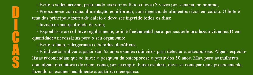Dicas para evitar osteoporose